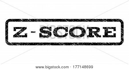 Z-Score watermark stamp. Text caption inside rounded rectangle frame with grunge design style. Rubber seal stamp with scratched texture. Vector black ink imprint on a white background.