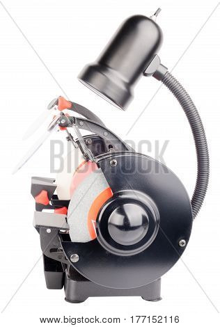 Electrical rough grinding machine side view isolated on the white background