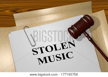 Stolen Music - Legal Concept