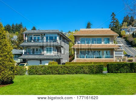 Luxury residential house in resort area close to Pacific ocean waterfront