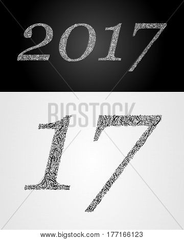 2017 year. Anniversary. World book and copyright day. International Day of writer. International Day of the Book. World Book Day. Studying and learning concept. Vector illustration.