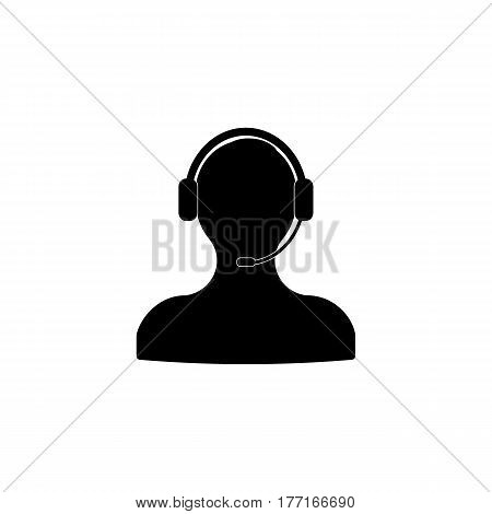 Assistance vector icon. Black illustration isolated on white background for graphic and web design.