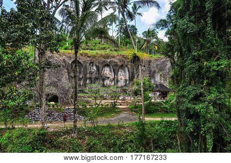 Rock-cut Shrines In Gunung Kawi, Bali, Indonesia