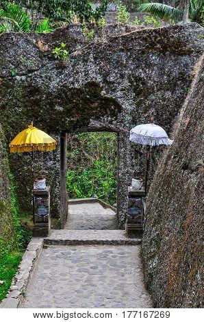 Door In The Rock In Gunung Kawi, Bali, Indonesia