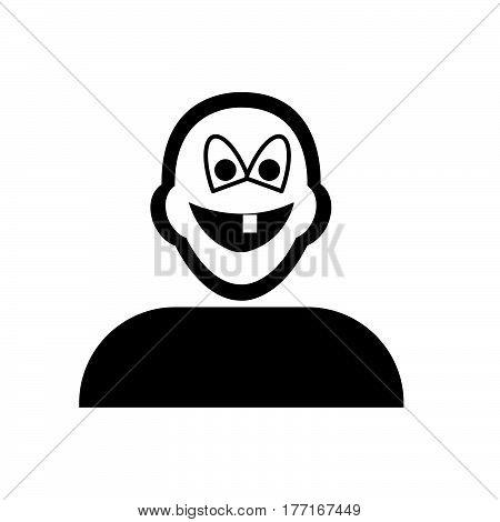 Flat Black Missing Theeth Emoticon Icon
