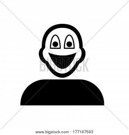 a Flat black grin emoticon icon vector