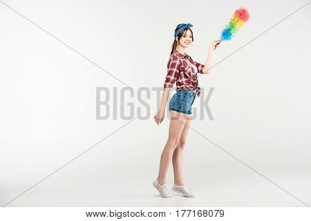 Young Woman With Duster