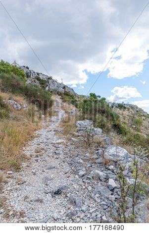 Croatian Moutains In Podstrana Near Split, Dalmatia, Croatia