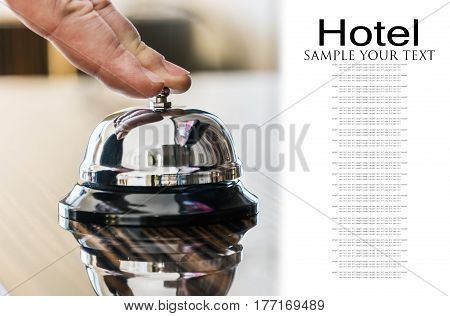 Hotel Concierge. service bell in a hotel or other premises. Delete text