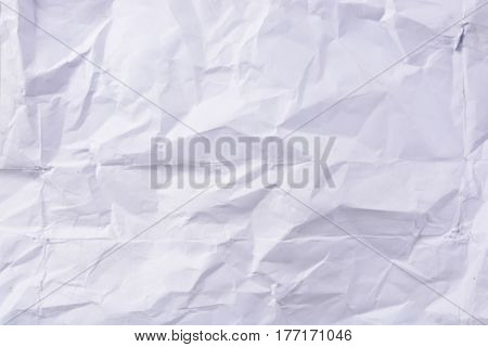 white crumpled  texture paper background  use for design