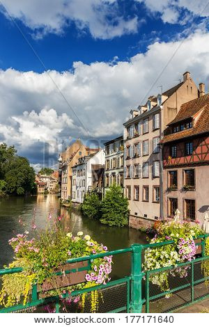 The Ill River In Petite France Area In Strasbourg