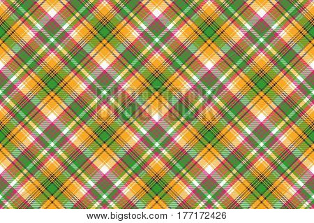 Colors madras plaid textile texture seamless pattern. Vector illustration.