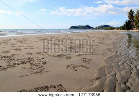 Travel to Island Koh Chang, Thailand. The view from the Khlong Phrao Beach.