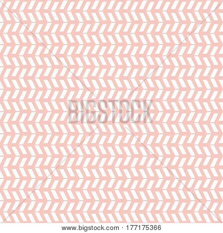 Geometric pattern with white arows. Seamless abstract background
