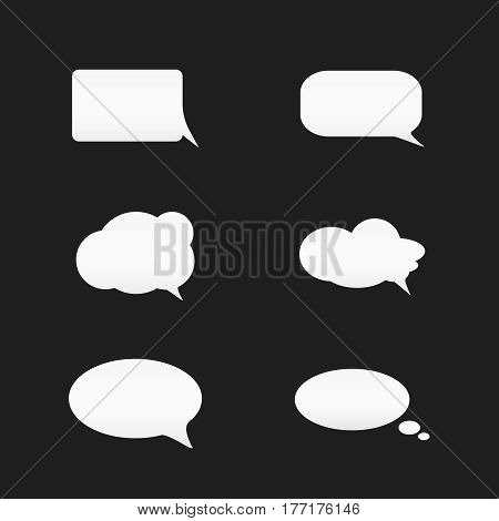 dialog box set .  Isolated speech bubbles for text