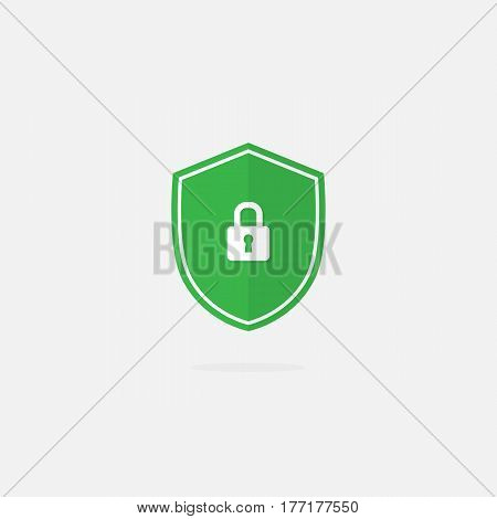Security Shield Vector Icon. Shield with Lock Icon