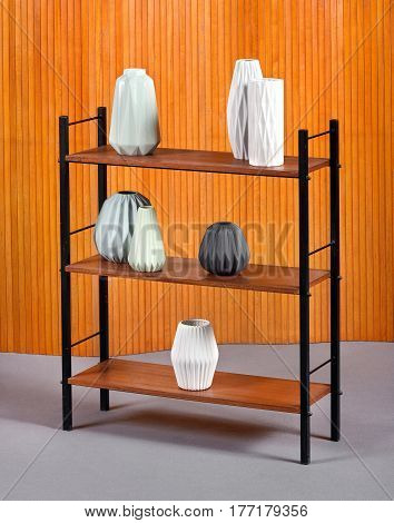 Simple Open Wooden Bookcase With Three Shelves