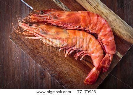 Fresh Cooked Shrimp