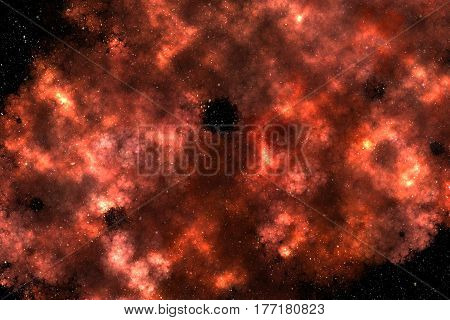 Space Scene Background with Colorful Galaxy Nebula Clouds