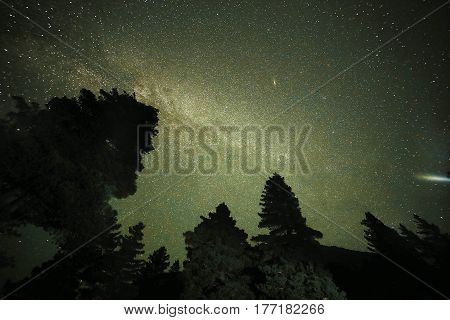 Milky Way - Night sky full of stars in Mahodand lake Swat Pakistan