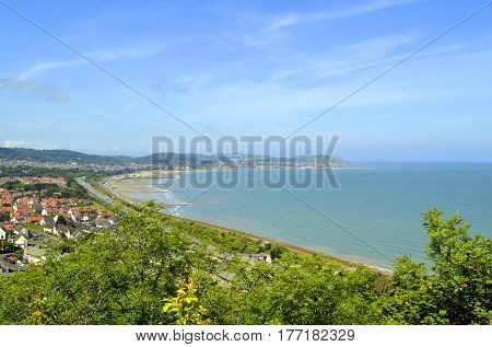 A view of Colwyn Bay in North Wales