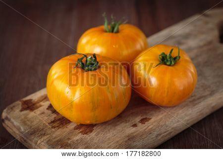 Fresh Raw Yellow Tomatoes
