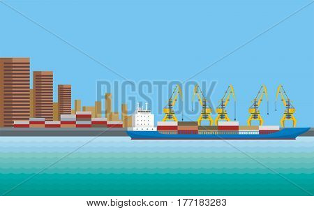 Commercial Sea Port.eps