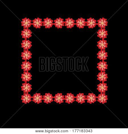 Vector flower frame vintage illustration on background