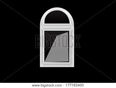 Vector windows plastic illustration isolated design background