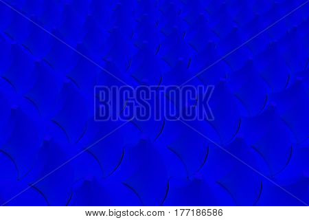 Pattern Of Blue Twisted Pyramid Shapes