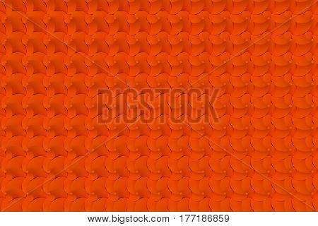 Pattern Of Orange Twisted Pyramid Shapes