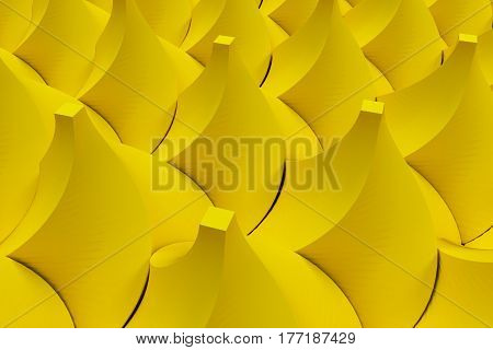 Pattern Of Yellow Twisted Pyramid Shapes
