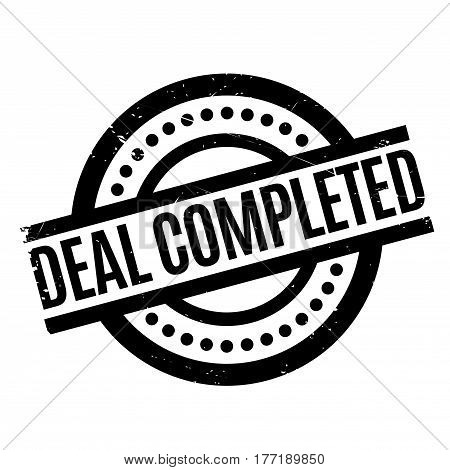 Deal Completed rubber stamp. Grunge design with dust scratches. Effects can be easily removed for a clean, crisp look. Color is easily changed.