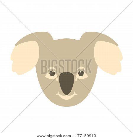 Koala Bear  head  vector illustration style Flat