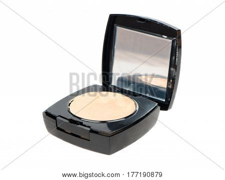 Open blush for the face isolated on a white background