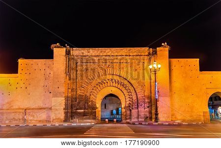 Bab Agnaou, one of the nineteen gates of Marrakesh - Morocco