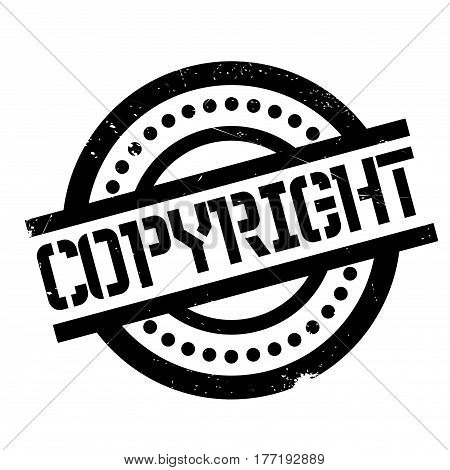 Copyright rubber stamp. Grunge design with dust scratches. Effects can be easily removed for a clean, crisp look. Color is easily changed.