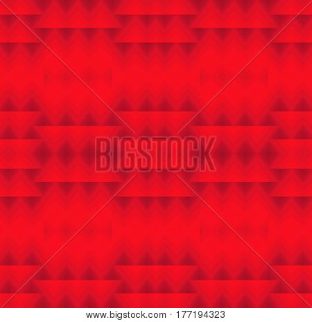Abstract geometric seamless background. Regular triangles and diamond pattern purple on red.