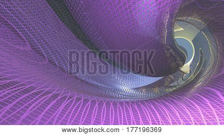 Strange swirling structure   3D Render