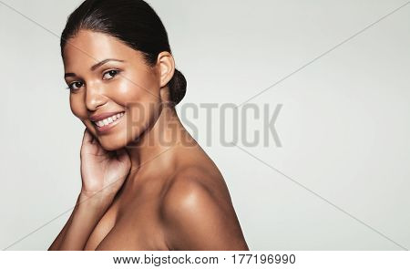Beautiful Young Woman With Clean Skin
