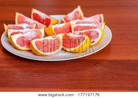 Two Grapefruits Slices
