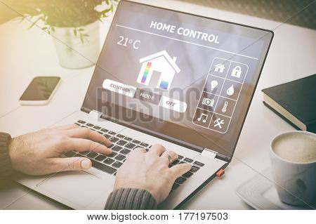 home smart system automated connection room control