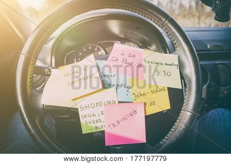 busy work do post notes list chaotic stress errands