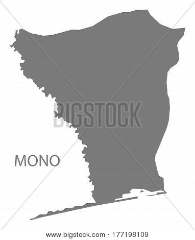 Mono Benin Department Map Grey Illustration Silhouette