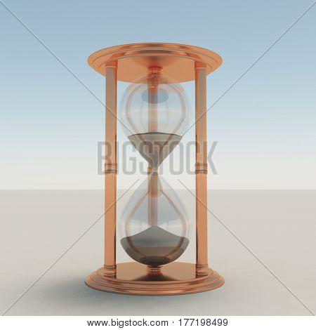Hourglass.   3d render.
