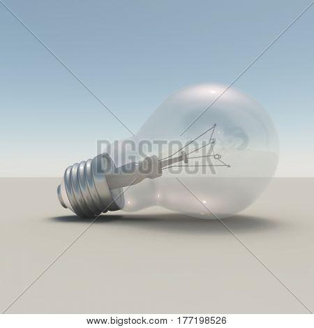 3d render. Light bulb.   3d render.