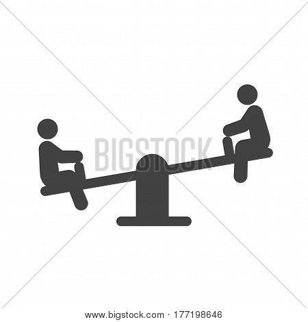 Playground, kids, seesaw icon vector image. Can also be used for city lifestyle. Suitable for web apps, mobile apps and print media.
