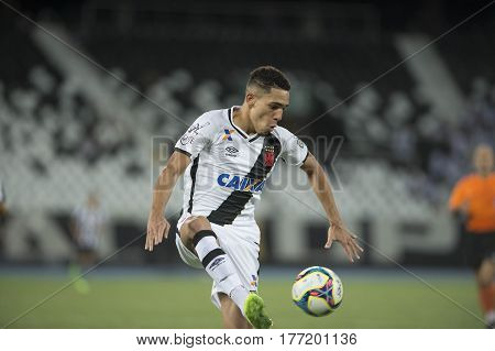 Rio de Janeiro Brazil - march 19 2017: Gilberto player in match between Vasco (0) and (0) Botafogo by the Carioca championship in Engenhao Stadium