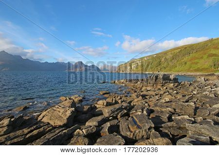 The sea at Elgol, Isle of Skye, Scottish Highlands