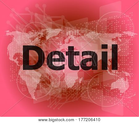 The Word Detail On Digital Screen, Business Concept